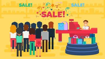 Shopping concept illustration vector