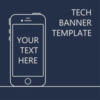 Web Banner with Phone vector