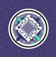 chip de procesador de computadora vector