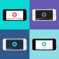 Web Template of Smartphone Video Form vector