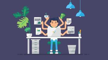 espacio de trabajo de tecnología creativa vector