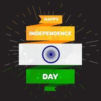 Happy Independence day India Greeting Template vector