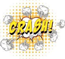 Comic speech bubble with crash text vector