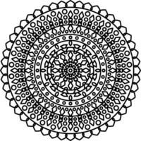 Mandala With Ornaments vector