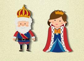 King and queen cartoon character vector