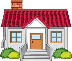 House in cartoon style isolated vector