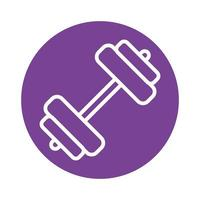 dumbbell gym block style icon vector