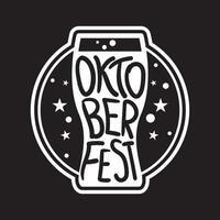 Oktoberfest Lettering Badge vector