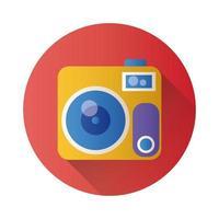 icono de estilo de bloque fotográfico de cámara vector