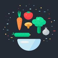 Fresh Vegetable Salad vector