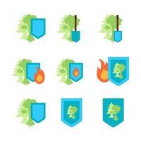 Environment Protection Icon vector