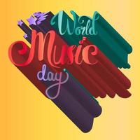 World Music Day Poster vector