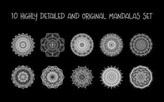Relaxing Mandalas Set vector