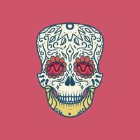 Mexican Detailed Skull vector