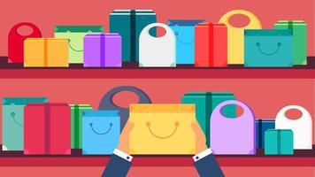 Shop Concept Banner vector