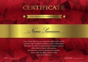 Certificate and diploma template vector