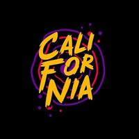 diseño de camiseta de tipografía de california vector