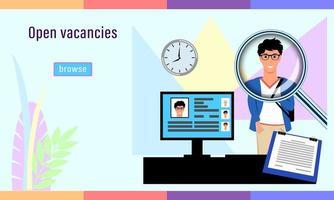 vacantes abiertas agencia de contratación vector
