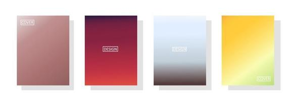 Conjunto de fondo abstracto con un hermoso color de gradación, fondo colorido para el telón de fondo de la pancarta del aviador del cartel.banner vertical. vector