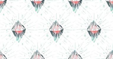 Mountain iceberg peak vector