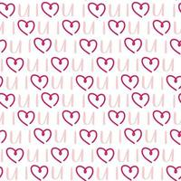 St Valentine's holiday Pink heart seamless pattern