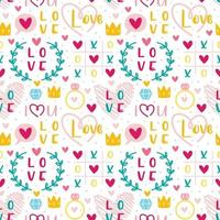 St Valentine's Day Love, heart, ring, crown set
