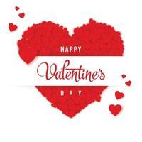 feliz dia de san valentin vector illustration