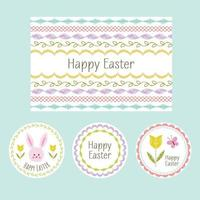 hand drawn Easter cards and circle labels