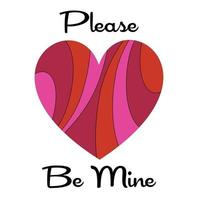 mod please be mine pink red pattern valentine hearts vector