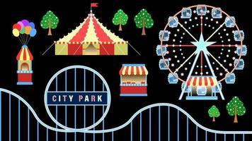 Amusement Park city Object Cartoon