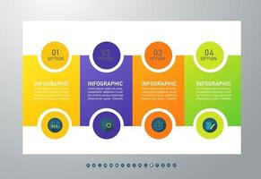 Modern infographic template with four steps vector