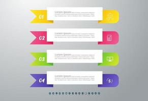 Abstract infographics four number options for workflow or presentation. vector