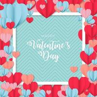 Wonderful happy valentine's day stylish greetings for post vector