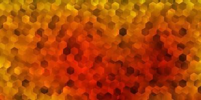 Dark yellow vector template in a hexagonal style.