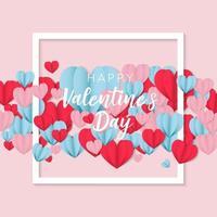 Elegant happy valentine's day stylish greetings vector