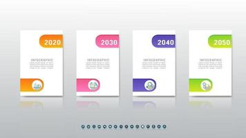 Infographic concept template design with 4 steps options. vector