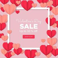 Valentines day post shopping with a pink background vector