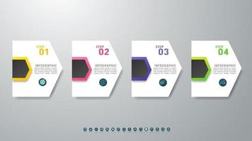 Timeline infographic design with icons 4 steps. vector