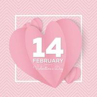 14 february valentine's day love template post vector