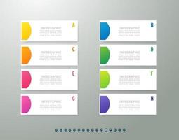 Presentation business infographic template with marketing icon design. vector