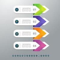 diseño de plantilla de negocio 4 elementos de gráfico infográfico vector