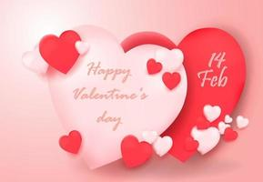 Happy Valentine's day abstract heart  background vector