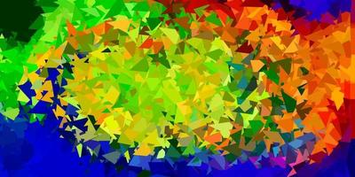 Light multicolor vector abstract triangle template.