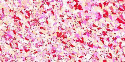 patrón de vector de color rosa oscuro, amarillo con formas poligonales.