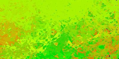 Dark green, yellow vector backdrop with triangles, lines.