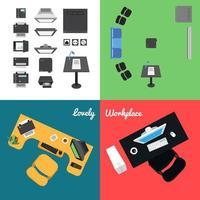 iconos de oficina y presentación vector