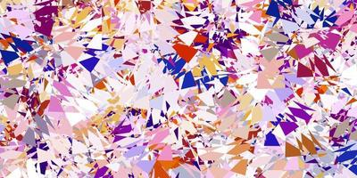 Light pink, yellow vector backdrop with triangles, lines.
