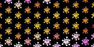 Plantilla de vector de color rosa oscuro, amarillo con signos de gripe.