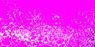 Light purple, pink vector template with triangle shapes.