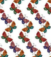 Steampunk mariposa de patrones sin fisuras vector